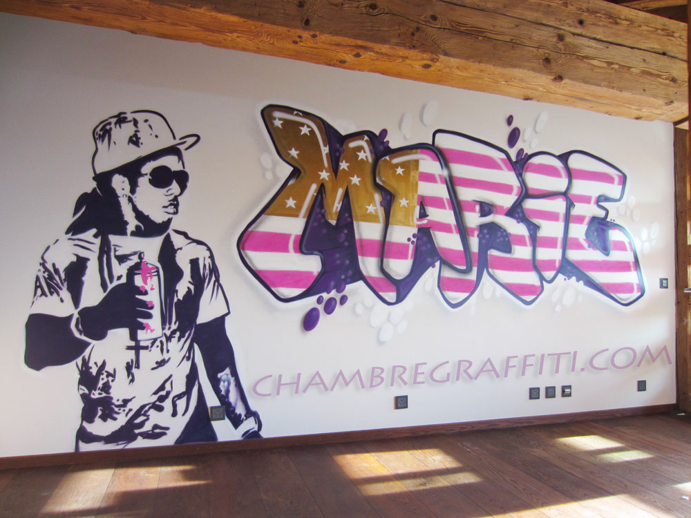 marie prenom graffiti lil wayne chambre graffiti. Black Bedroom Furniture Sets. Home Design Ideas