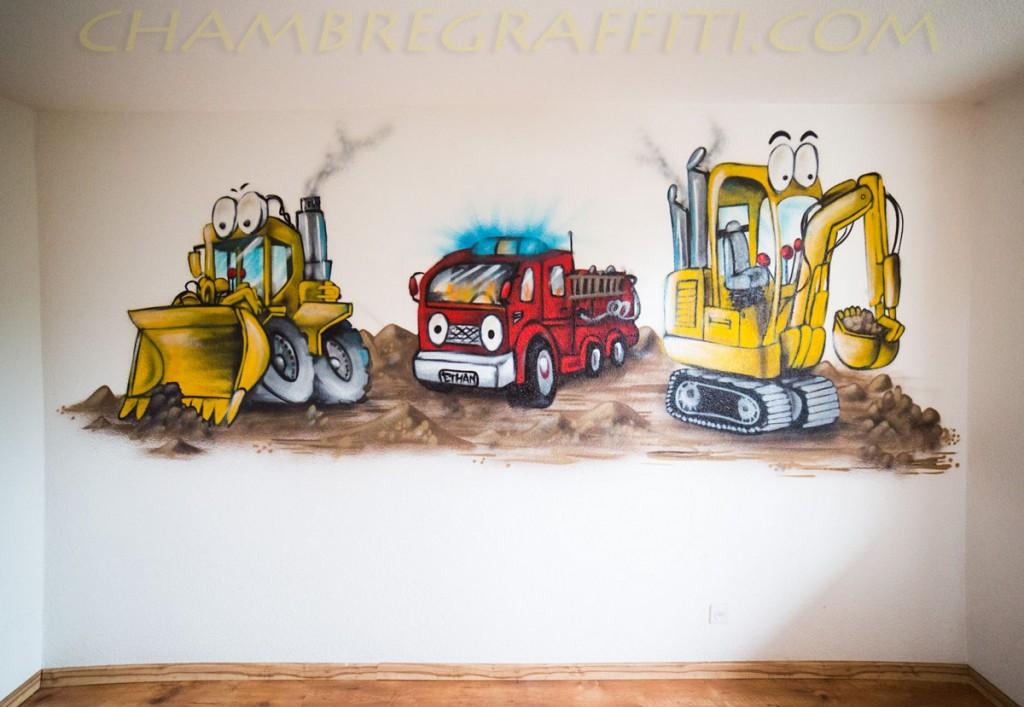 Chambre Bebe Fille Quebec : Engins de chantier pompier chambre d ethan
