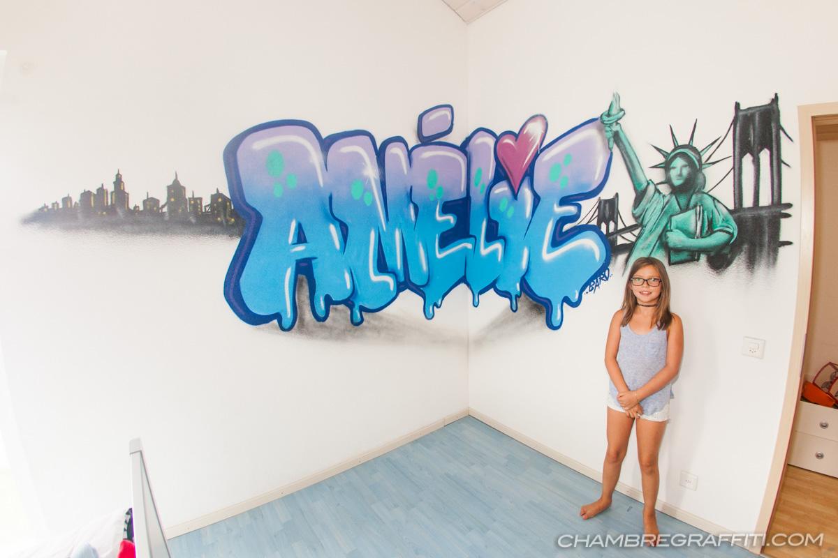 Chambre Sur Le Thème De New York chambre de amélie sur le thème de new york avec la statue de