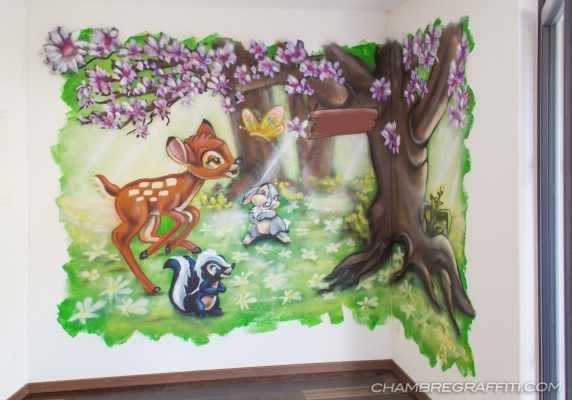 Bambi Graff spray chambre fille deco