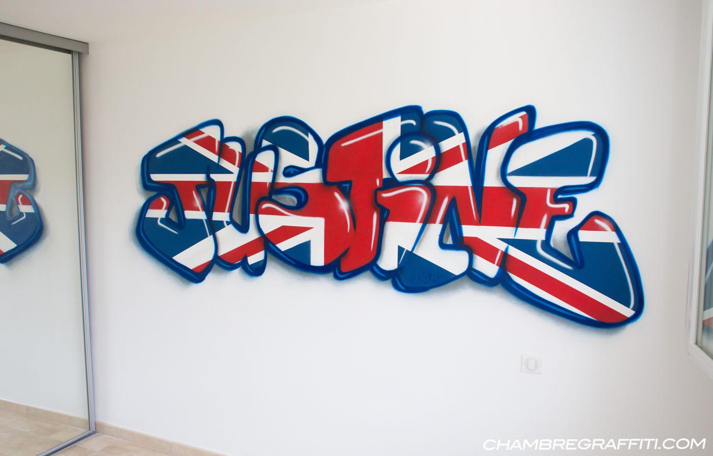 Chambre de Justine en France | Chambre graffiti