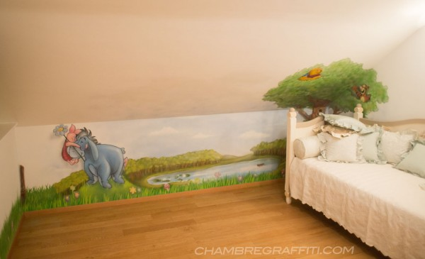 Chambre Graffiti Winnie Disney enfant