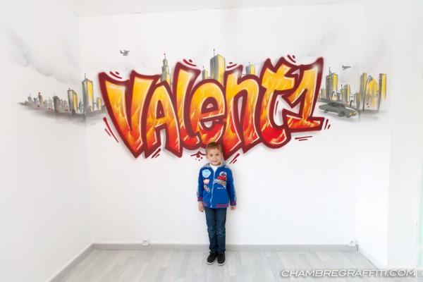 Chambre-Prenom-graffiti-Lille-Valentin
