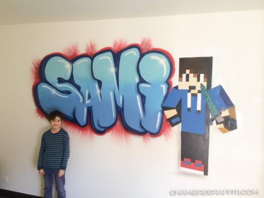 Chambre-Sami-Minecraft-Graffiti
