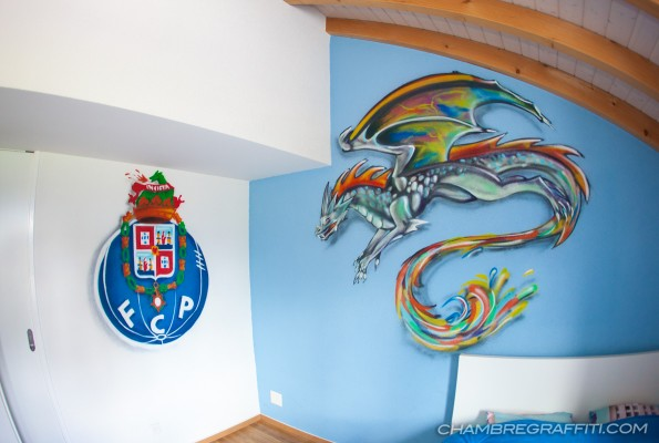 Chambre-graffiti-Football-FCporto-Dragon
