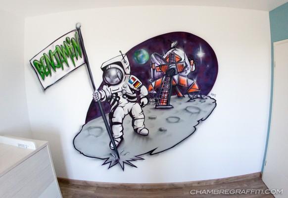 Chambre-graffiti-Luxembourg-espace-Astronaute