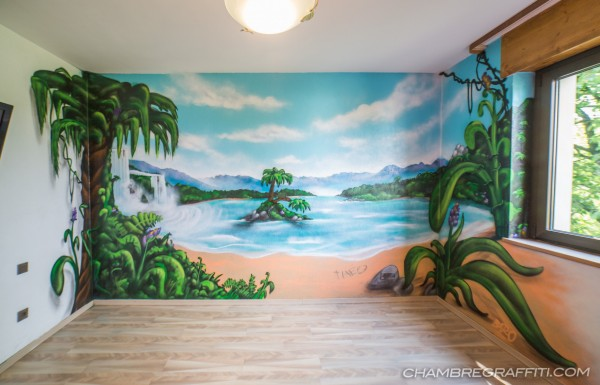 Chambre graffiti jungle