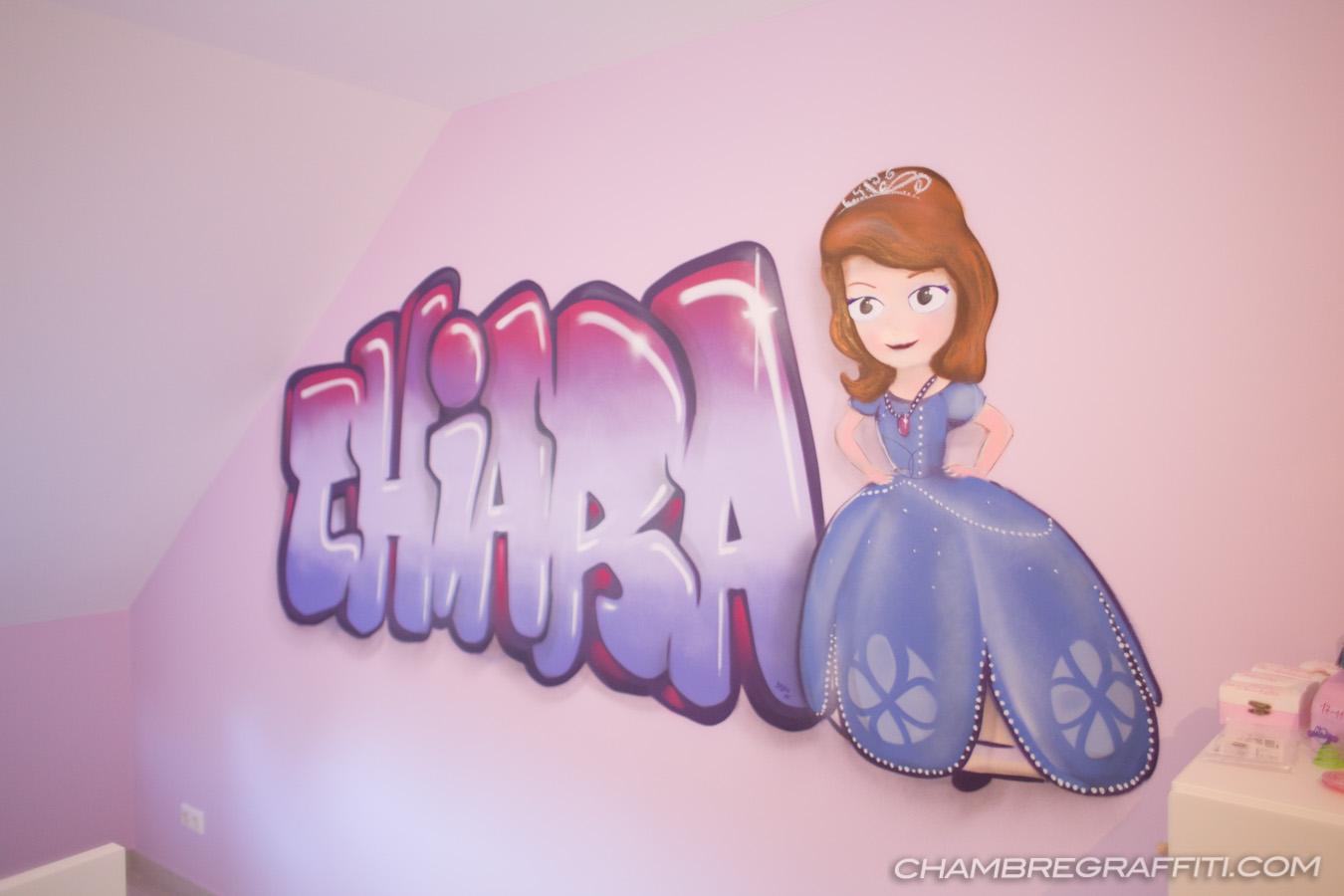 chambre princesse graffiti chiara - Chambre Princesse Sofia