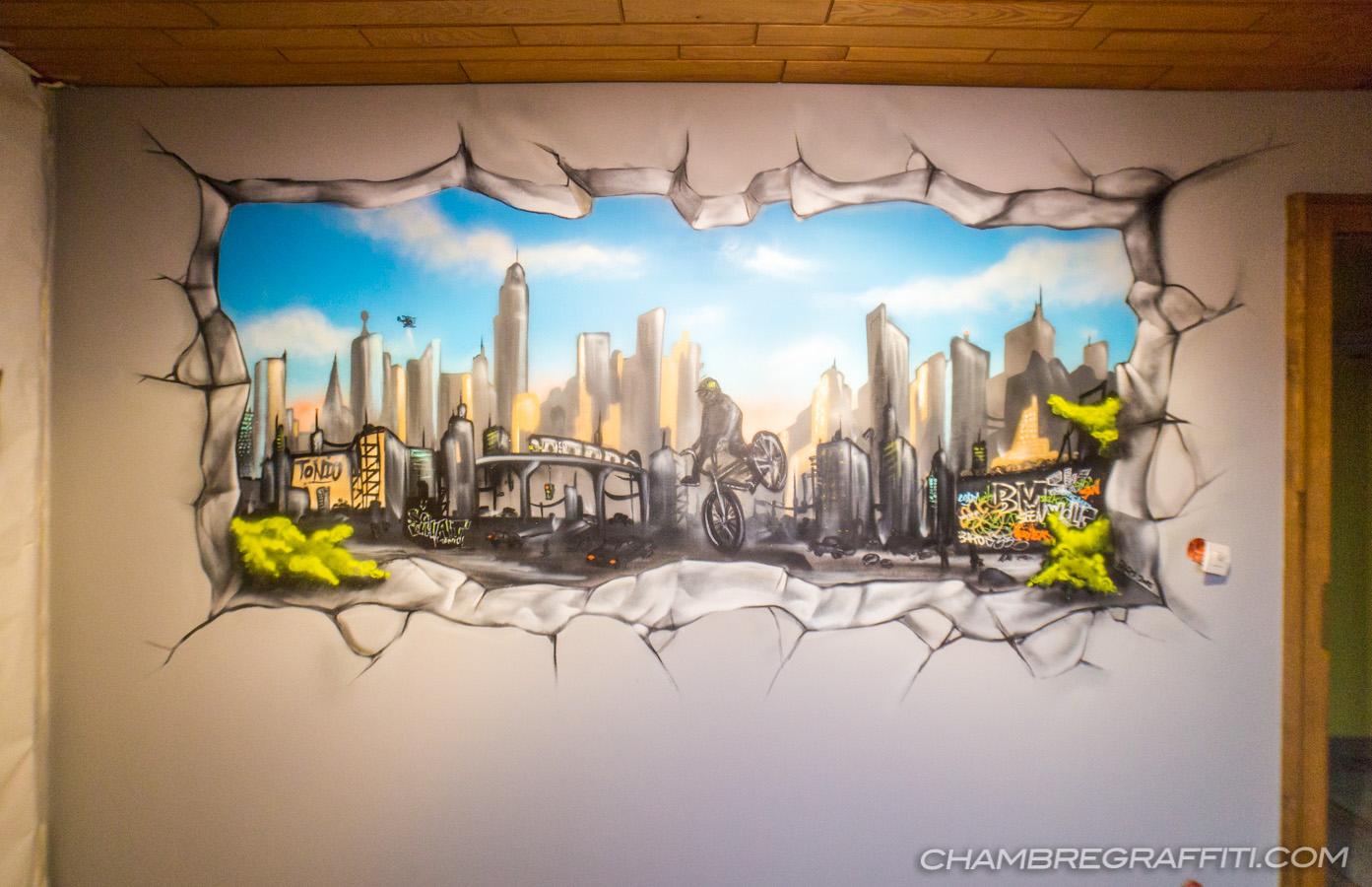 Chambre Sur Le Thème De New York chambre d'antoine thème bmx en alsace