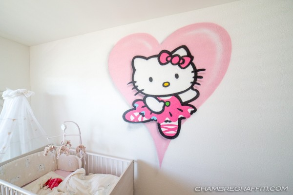 Graffiti-hello-kitty-chambre