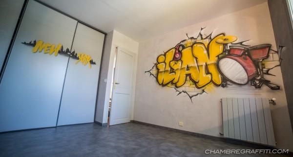 Chambre Bebe Fille Quebec : Graffiti ilian chambre à paris