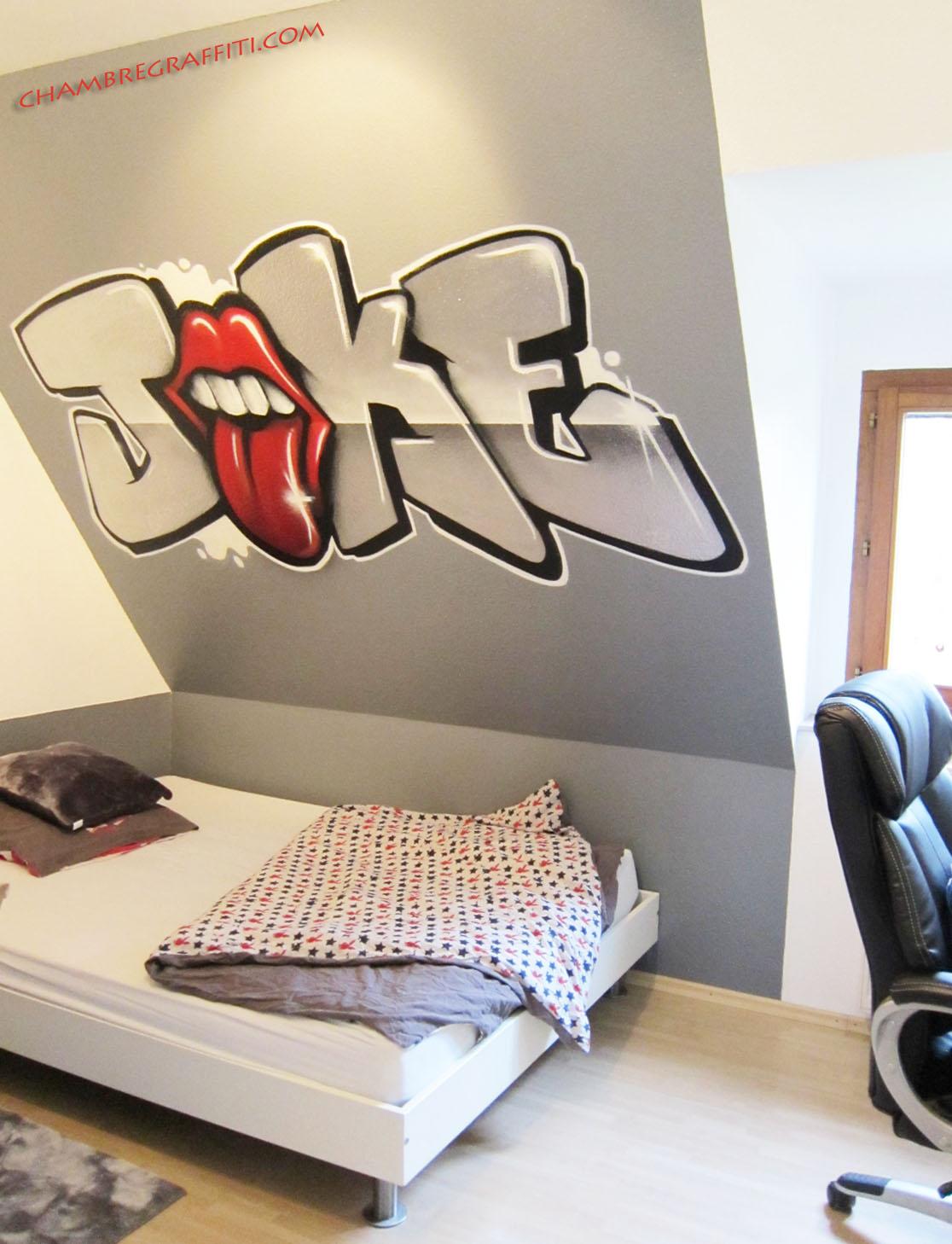 Joke pour Sven en Alsace   Chambre graffiti