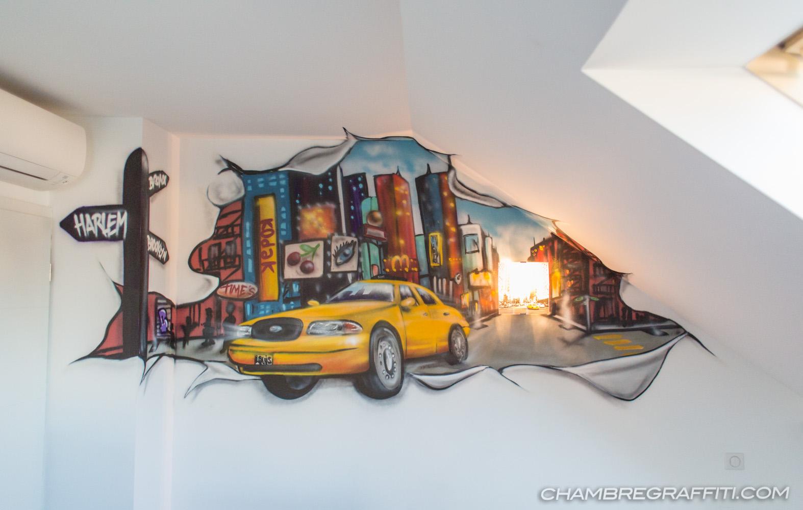 New York City Deco Chambre à Strasbourg (Alsace)   Chambre graffiti