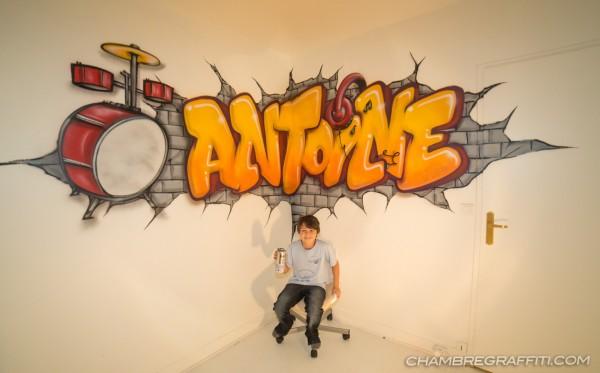 Chambre Bebe Fille Quebec : Chambre d antoine à paris graffiti