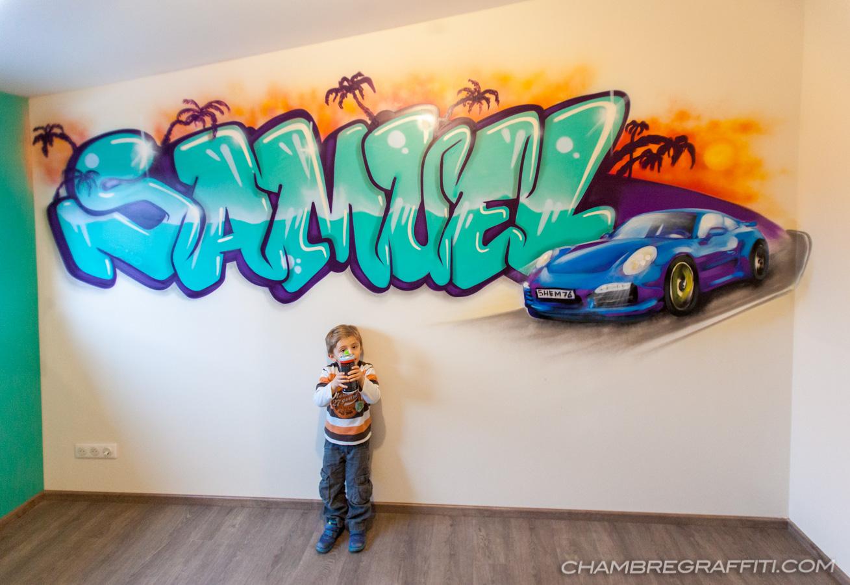 Chambre de garçon prénom graffiti toutes les réalisations