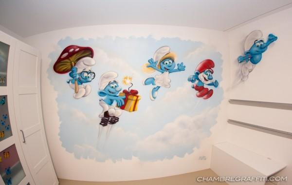 Stroumpf-Graffiti-chambre-enfant-deco